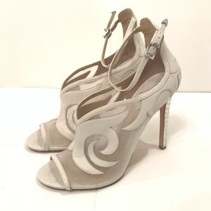 BRIAN ATWOOD White Leather Heels Sz 10